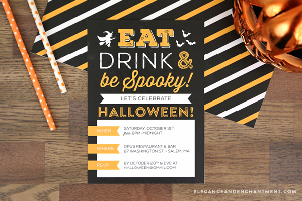 planning a halloween party download these free printable invitations and customize by typing in all