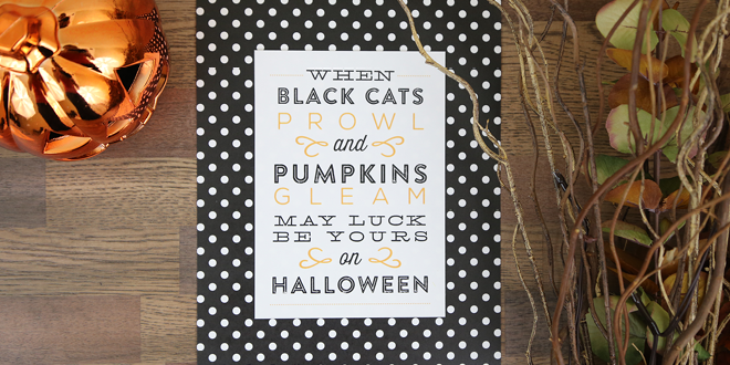Free Printable Halloween Art Prints and Signs - six different designs to decorate your home for fall or an easy DIY way make your Halloween party a little more festive! Designs by Elegance and Enchantment for Today's Creative Blog.