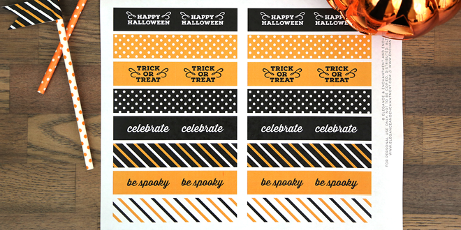 Free Printable Halloween Party Flags