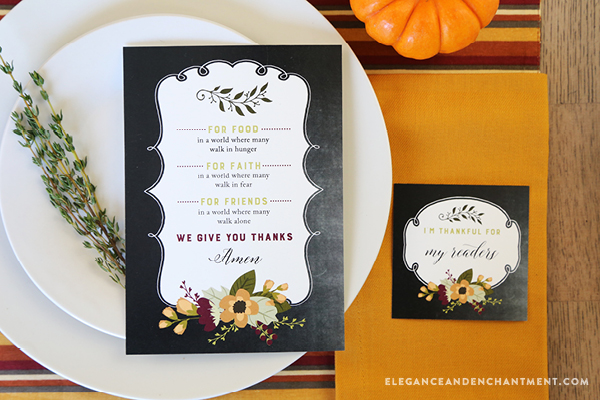 Free Printable Thanksgiving Prayer Cards