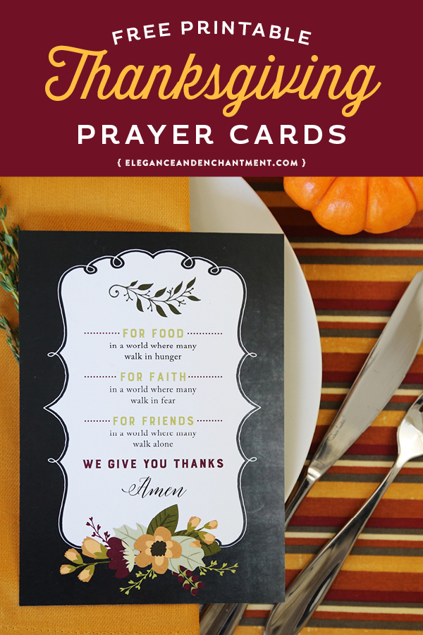 photograph regarding Printable Prayer Cards titled Absolutely free Printable Thanksgiving Prayer Playing cards