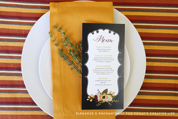 picture about Printable Menu Card called Printable Thanksgiving Menu Playing cards