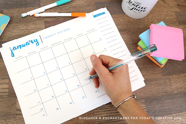 Stay Organized With This Totally Fun Free 2016 Printable Calendar Each Month Boasts