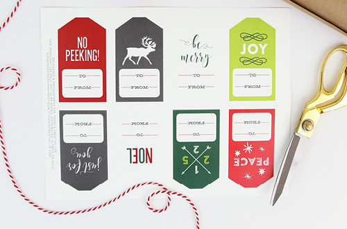 Free Printable Christmas Gift Tags make holiday wrapping and packaging easy and fun! Simply download these free designs and print using Avery tags, or your own paper! Designs from Elegance & Enchantment for Today's Creative Life.