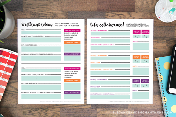 Planning Printables for Bloggers and Small Business Owners – Free Business Printables