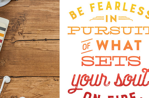 "Your weekly free printable inspirational quote from Elegance and Enchantment! // ""Be Fearless in Pursuit of What Sets Your Soul on Fire."" // Simply print, trim and frame this quote for an easy, last minute gift or use it to update the artwork in your home, church, classroom or office. #enchantingmondays"