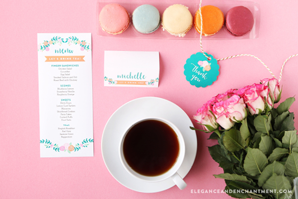 Hosting A Tea Party This Set Of Free Printables Would Make The Perfect Addition To