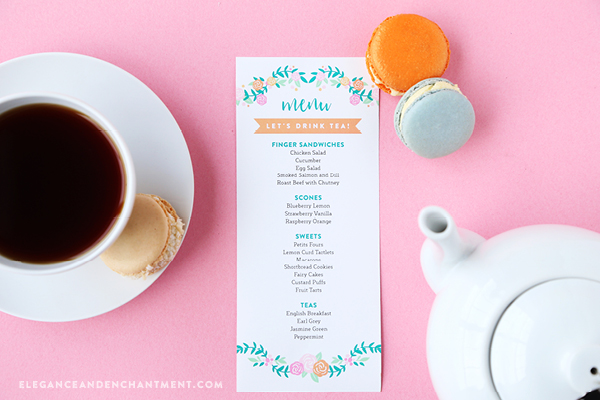 Hosting a Tea Party? This set of free printables would make the perfect addition to your table. The trio of designs includes menu cards, place cards and thank you tags and can be customized with your own text. Print using Avery.com/print or your own paper and printer. Best of all, they can be used for any type of celebration, including a Baby Shower, Bridal Shower, Girls Night, Bachelorette, Mother's Day Brunch, Bridal Luncheon, First Communion, Easter, or Springtime Gathering. Designs from Elegance and Enchantment.
