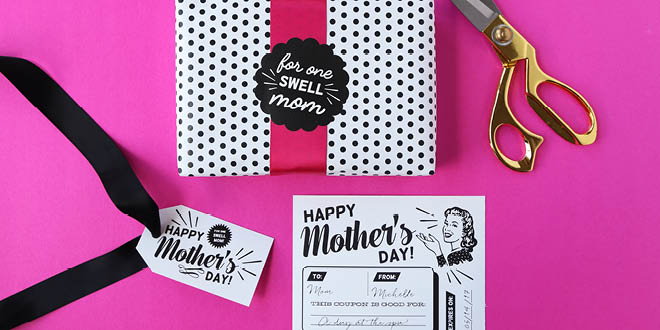 Retro Mother's Day Printables