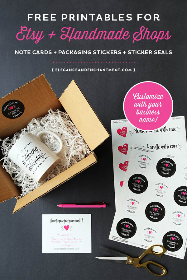 picture about Etsy Printables identified as Totally free Printable Packaging for Etsy and Do-it-yourself Keep Homeowners