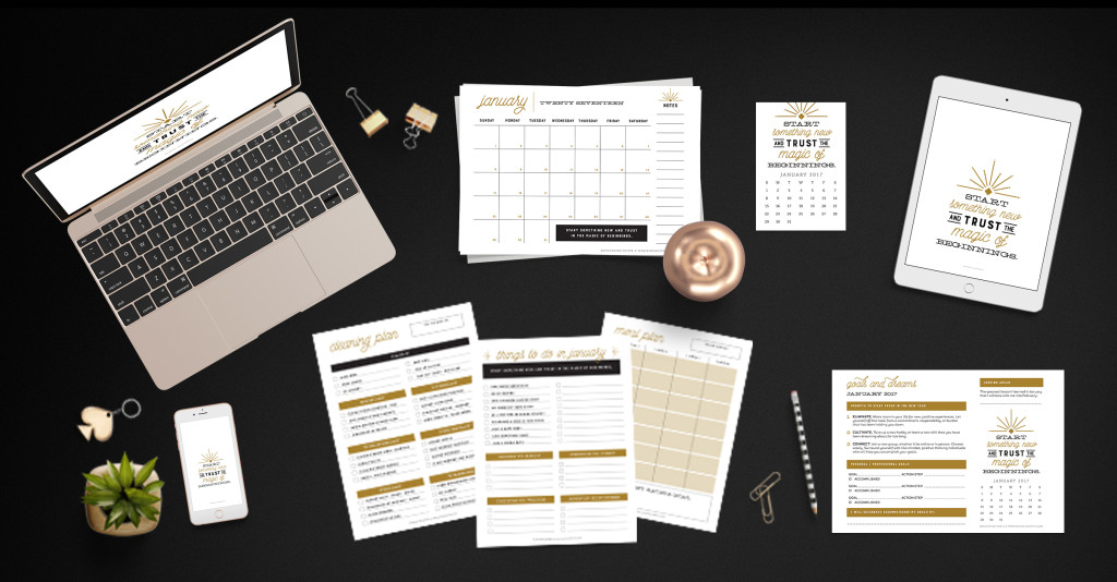 Make it your best year ever. The Enchanted Prints Inspirational Planner Subscription is designed to keep you moving toward accomplishing your goals, month after month. With a focus on balance, the subscription includes all the tools you need to create a happy + healthy life.