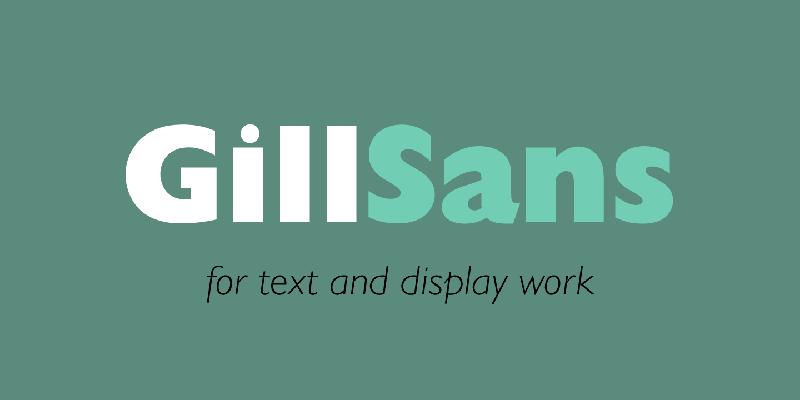 Gill Sans Font