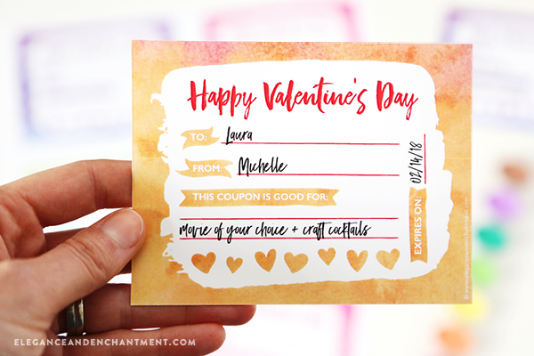 Make Valentineu0027s Day Gift Giving Easy With These Free Printables In A  Pretty Watercolor Style.