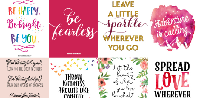 20 Printable Inspirational Valentine's Day Gifts