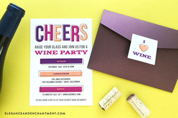Free Printable Wine Party Invitations Stickers and Labels – Free Customizable Party Invitations