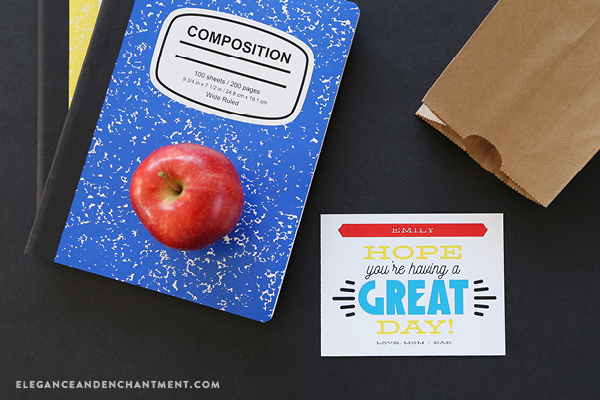 """Back to School Printables for students and teachers. Download all of these classroom goodies for free! Includes printable-customizable lunch box notes and printable """"property of"""" stickers. Compatible with Avery Products 8387 and 22806 for easy printing! Designs from Elegance and Enchantment in partnership with Avery."""