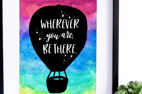 Your weekly free printable inspirational quote from Elegance and Enchantment! // Wherever You Are, Be There // Simply print, trim and frame this quote for an easy, last minute gift or use it to update the artwork in your home, church, classroom or office. #enchantingmondays.