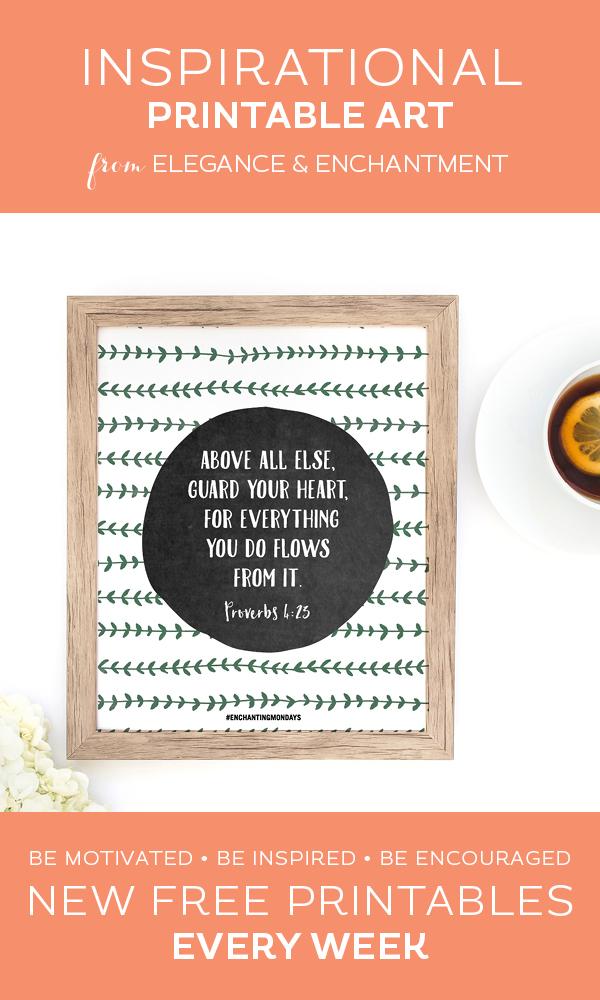 Printable Inspirational Quote - Enchanting Mondays 193