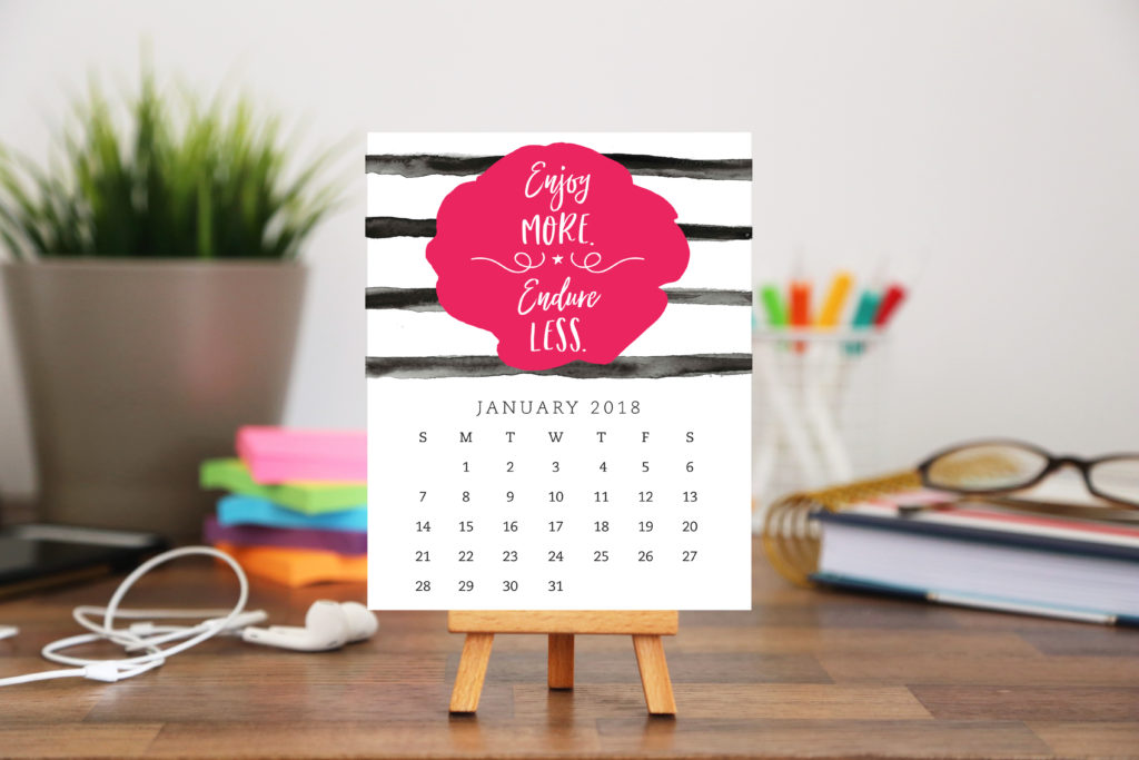 2018 Motivational Desk Calendar from Enchanted Prints