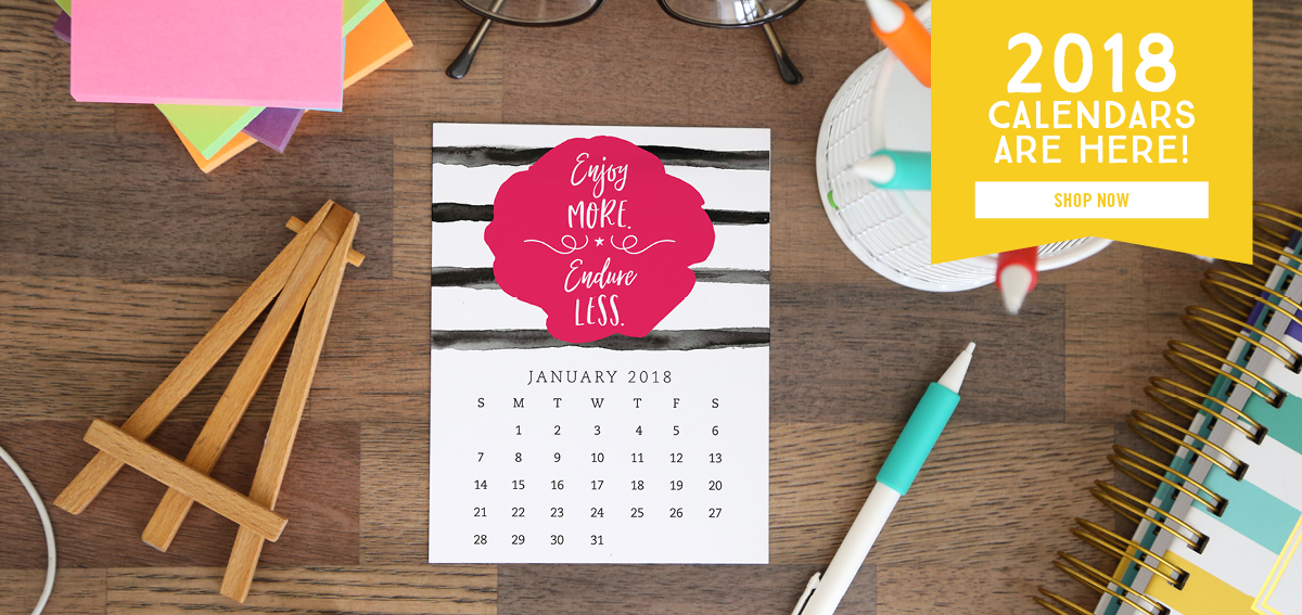 Motivational Calendars from Enchanted Prints