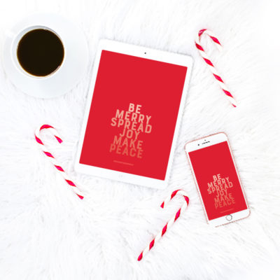 Be Merry Printable Art + Social Graphic + Device Wallpaper