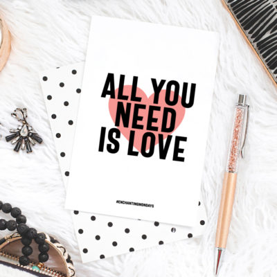 All You Need is Love Printable Art + Social Graphic + Device Wallpaper