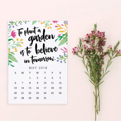 Free Printable May 2018 Calendar