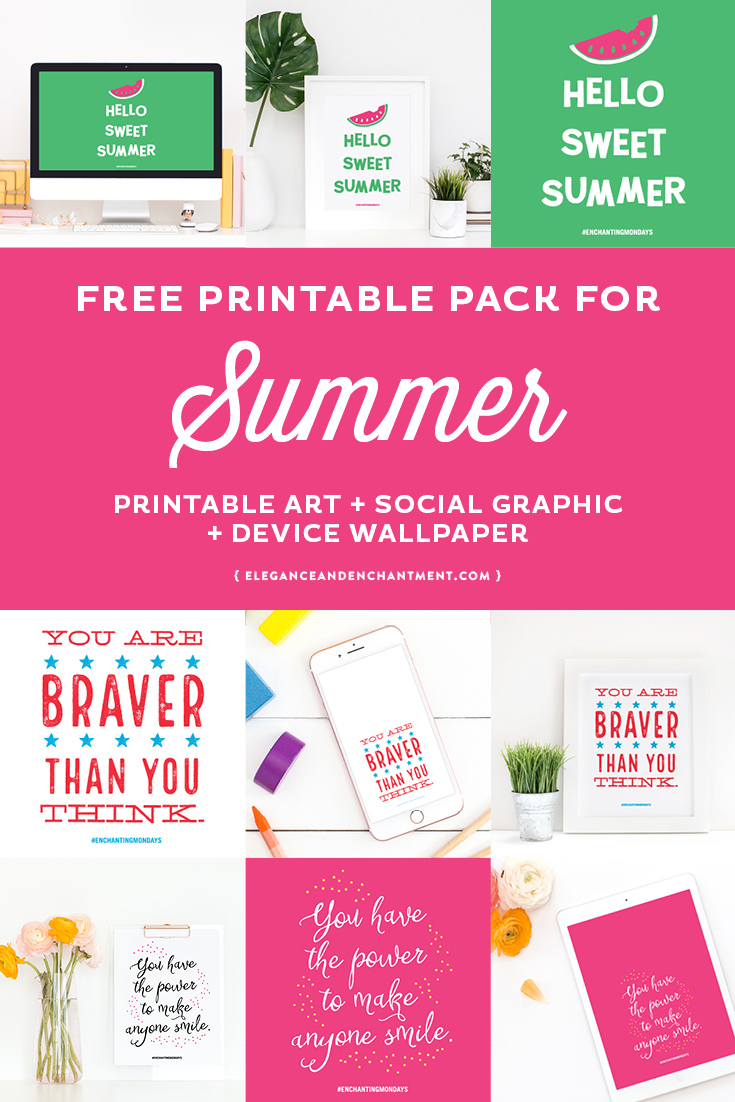 graphic about Have a Sweet Summer Printable identified as Absolutely free Printable Artwork for Summer time - Beauty Attraction