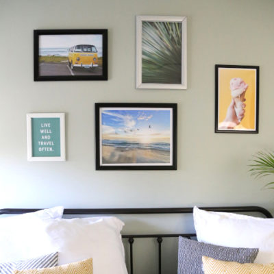 Do you like to switch up to look of your wall decor? SnapeZo has made it easy for us with their revolutionary frames. In this post, I show you how to utilize them to change your artwork while keeping your frames up on the wall. // From Elegance and Enchantment // Sponsored by SnapeZo