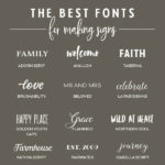 Searching for the perfect font to use on your next hand lettered sign? Here's a roundup of twenty fabulous typefaces. // From Elegance and Enchantment #signmaking #fonts #lettering