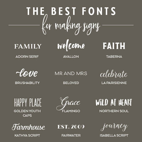 The Best Fonts For Making Signs Elegance Enchantment