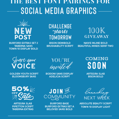 Best font pairings for social media graphics - from Elegance and Enchantment